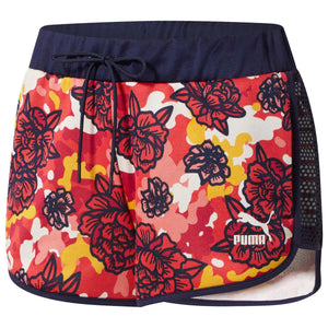 Womens Puma Xtg Flourish Touch Of Life Shorts In Hisbiscus