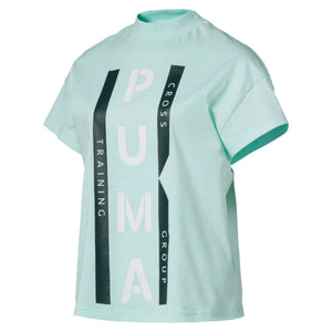 Womens Puma Xtg Graphic Tee Shirt In Fair Aqua