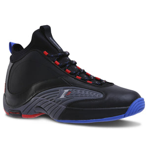 Mens Reebok Iverson Answer Iv V 4-5 Sneaker In Black Ash Grey Red Blue