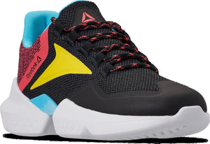 Mens Reebok Split Fuel Sneaker In Black True Grey Bright Rose Yellow