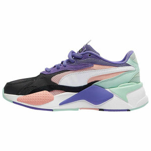 Womens Puma RS-X3 Puzzle Sneaker In Purple - Simons Sportswear