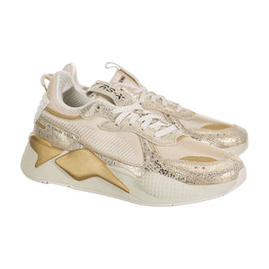 Womens Puma RS-X Winter Glimmer Sneaker (White/Gold) - Simons Sportswear