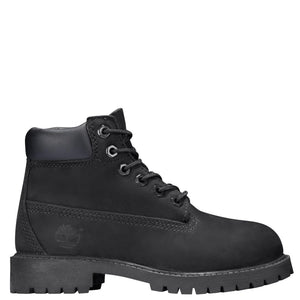 Big Kids Timberland 6-Inch Premium Waterproof Boots Timbs In Black Nubuck