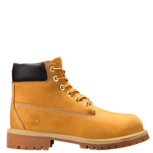 Big Kids Timberland 6-Inch Premium Waterproof Boots Timbs In Wheat Nubuck