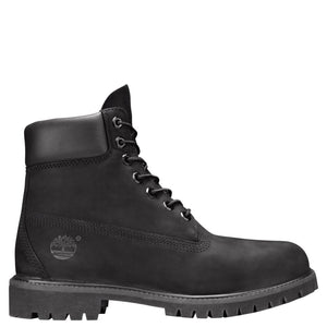 Mens Timberland 6-Inch Premium Waterproof Boots Timbs In Black Nubuck - Simons Sportswear