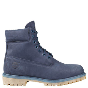 Mens Timberland 6-Inch Premium Waterproof Boots Timbs In Navy Blue Waterbuck