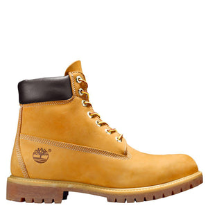 Mens Timberland 6-Inch Premium Waterproof Boots Timbs In Wheat Nubuck - Simons Sportswear