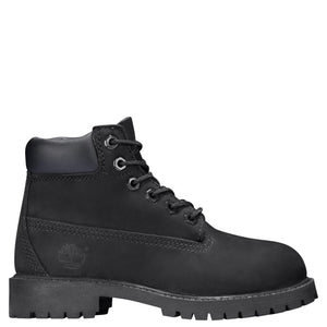 Preschool Kids Timberland 6-Inch Premium Waterproof Boots Timbs In Black Nubuck