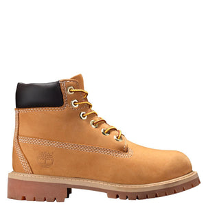 Preschool Kids Timberland 6-Inch Premium Waterproof Boots Timbs In Wheat Nubuck - Simons Sportswear