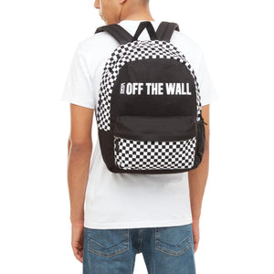 Bag Vans Central Realm Checkerboard Backpack In Black