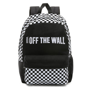 Bag Vans Central Realm Checkerboard Backpack In Black - Simons Sportswear