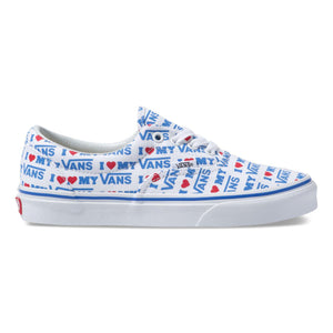 Big Kids Vans I Heart Vans Era Skate Shoe In True White