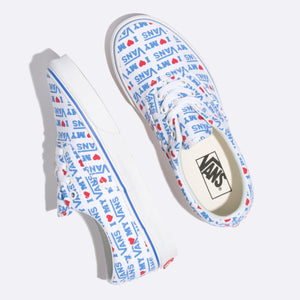 Big Kids Vans I Heart Vans Era Skate Shoe In True White - Simons Sportswear