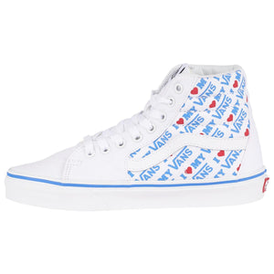Big Kids Vans I Heart Vans Sk8-Hi Skate Shoe In True White - Simons Sportswear