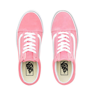 Big Kids Vans Old Skool Skate Shoe In Pink True White