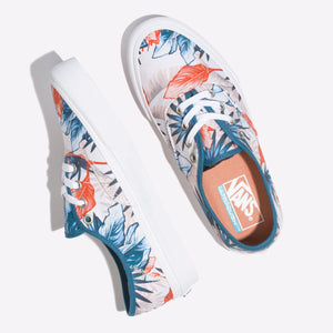Big Kids Vans Vintage Rio Authentic Sf Skate Shoe In Blue Sapphire Carnelian - Simons Sportswear