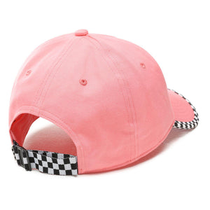 Vans Check It Checkerboard Hat In Strawberry Pink
