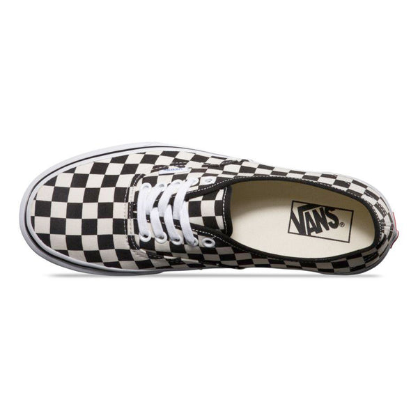 04dc446a58d Mens Vans Authentic Checkerboard Golden Coast Skate Shoe In Black True -  Simons Sportswear