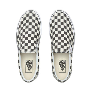 Mens Vans Blur Check Slip-On Skate Shoe In Black Classic White