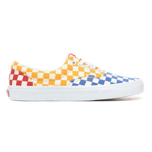 Mens Vans Checkerboard Era Skate Shoe In Multi Color True White
