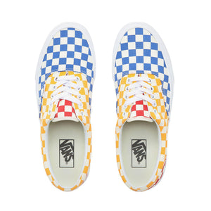 Mens Vans Checkerboard Era Skate Shoe In Multi Color True White - Simons Sportswear