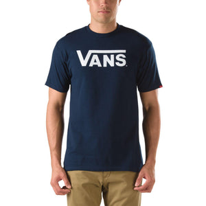 Mens Vans Classic Logo Tee Shirt In Nayy White