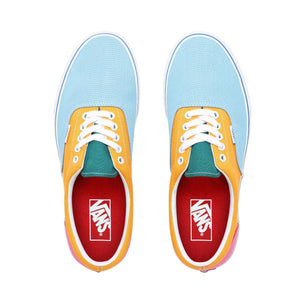 Mens Vans Era Skate Shoe In Canvas Bright Color Block - Simons Sportswear