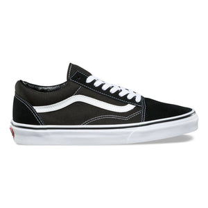 Mens Vans Old School Skate Shoe In Black White - Simons Sportswear
