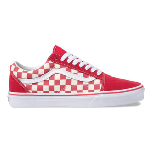 70285222cb62 Quick View · Mens Vans Old Skool Primary Checker Skate Shoe In Racing Red  White ...