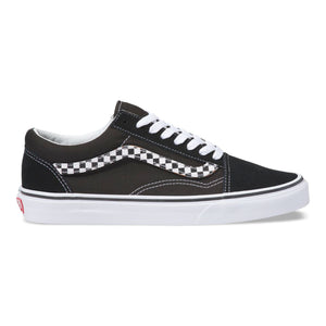 Mens Vans Old Skool Sidestripe V Skate Shoe In Black - Simons Sportswear