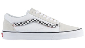 Mens Vans Old Skool Sidestripe V Skate Shoe In True White - Simons Sportswear