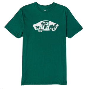 Mens Vans Otw Off The Wall Tee Shirt In Evergreen