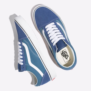 Mens Vans Otw Sidewall Old Skool Skate Shoe In True Navy