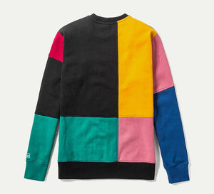 Mens Vans Patchy Crew Pullover Sweatshirt In Multi Color Block