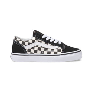 Mens Vans Primary Check Old Skool Skate Shoe In Black White