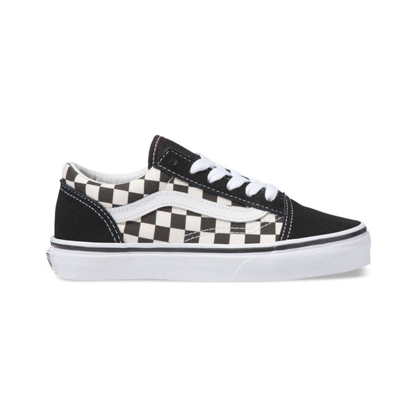46d7187843dc2 Mens Vans Primary Check Old Skool Skate Shoe In Black White - Simons ...