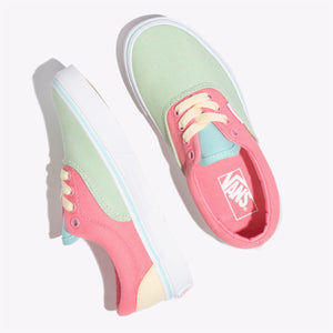 Preschool Kids Vans Era Color Block Skate Shoe In Strawberry Pink True White - Simons Sportswear