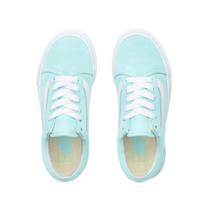 Preschool Kids Vans Old Skool Shoes Skate Shoe In Blue Tint True White - Simons Sportswear