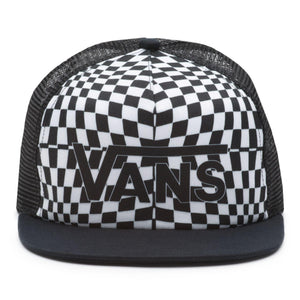 Vans Spring Break Trucker Hat In Black Warp Check