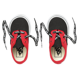 Toddler Kids Vans Authentic Log Pop Skate Shoe In Black Red True White
