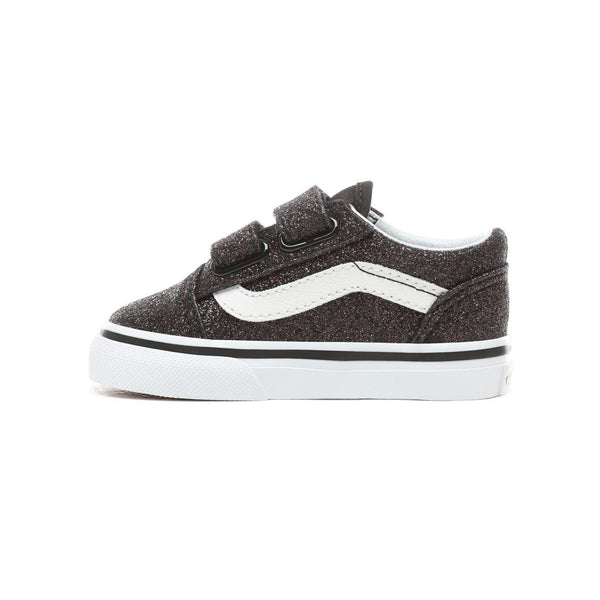 49d440ba0 Toddler Kids Vans Glitter Stars Old Skool V Skate Shoe In Black Glitte -  Simons Sportswear