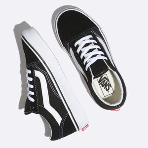 Toddler Kids Vans Old Skool Skate Shoe In Black True White