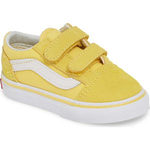 Toddler Kids Vans Old Skool V Skate Shoe In Aspen Gold