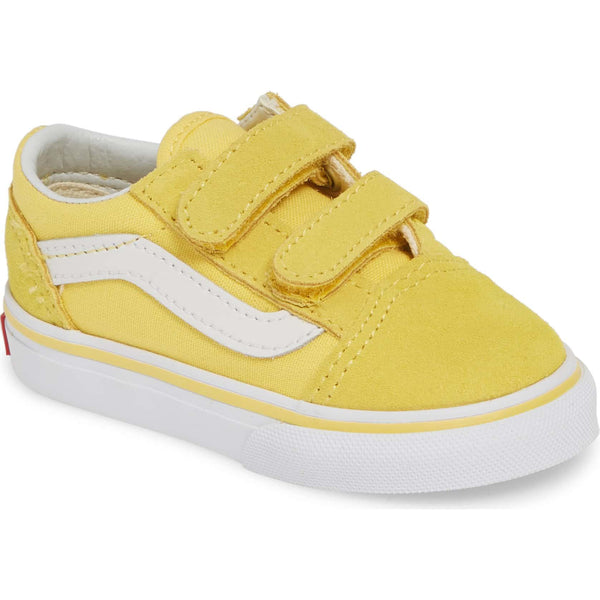 dca511bb6aa5c9 Toddler Kids Vans Old Skool V Skate Shoe In Aspen Gold - Simons Sportswear