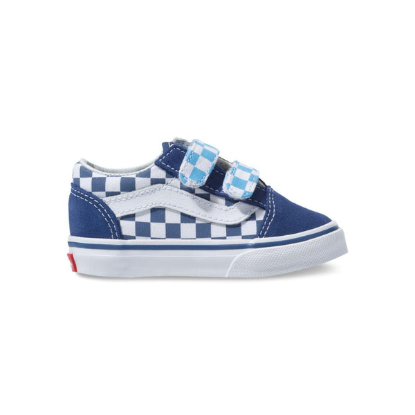 clear and distinctive shop for great discount Toddler Kids Vans Old Skool V Checkerboard Skate Shoe In True Navy Bonnie  Blue