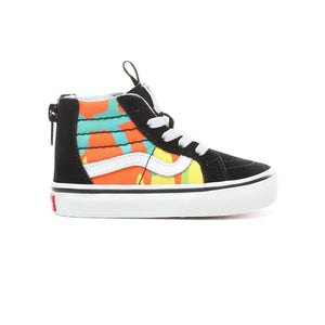 Toddler Kids Vans Pop Camo Sk8-Hi Zip Skate Shoe In Blazing Yellow Black