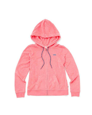 Womens Vans Breezy Zip Sweatshirt Hoodie In Strawberry Pink