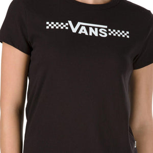 Womens Vans Funnier Times Baby Tee Shirt In Black - Simons Sportswear