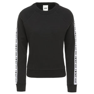 Womens Vans Heart My Vans Crewneck Sweatshirt In Black - Simons Sportswear