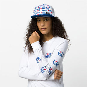 Womens Vans Love Long Sleeve Tee Shirt In White